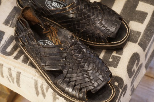 Mexican handcrafted black Huaraches