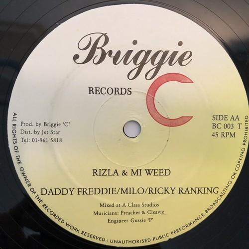 Daddy Freddie, Milo & Ricky Ranking - Rizla & Mi Weed【12-50001】