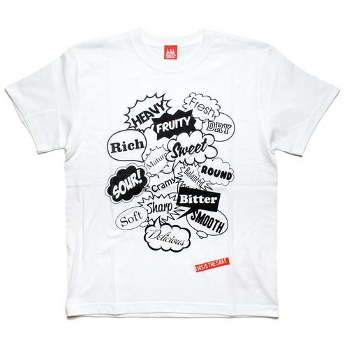 【SAKE Tシャツ】SAKE TASTE / ホワイト