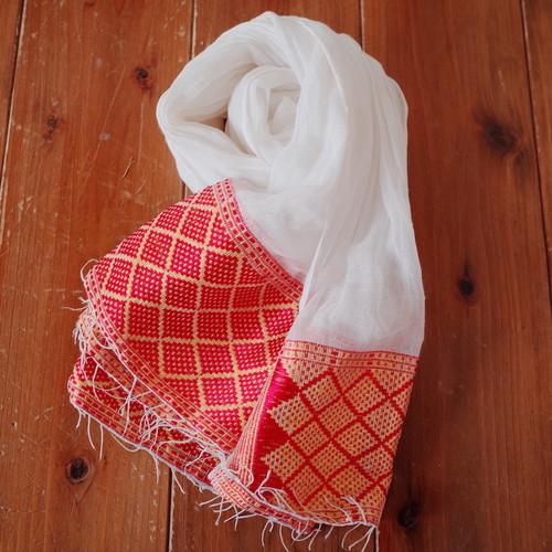 エチオピア手織りスカーフ/ナタラ  red yellow