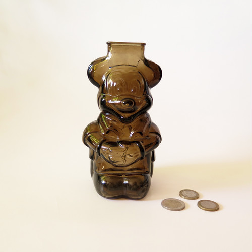 MICKEY MOUSE CLUB GLASS PENNY BANK・ミッキー貯金箱 U.S.A