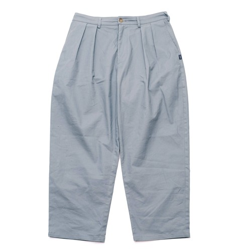 【GREY】CHINO WIDE TAPERED PANTS