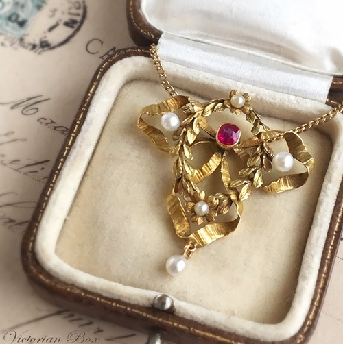 French Ruby Necklace