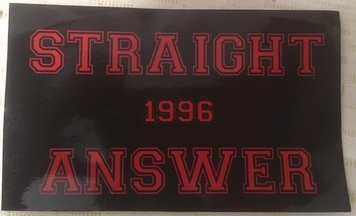 Straight Answer - Logo sticker BLK