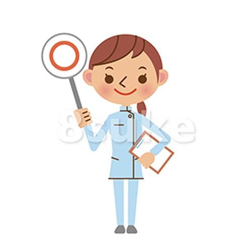 イラスト素材:介護士の正解・OKイメージ(ベクター・JPG)