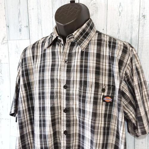 DICKIES(ディッキーズ) チェックシャツ半袖 L RankB ☆アメカジ古着ファッション