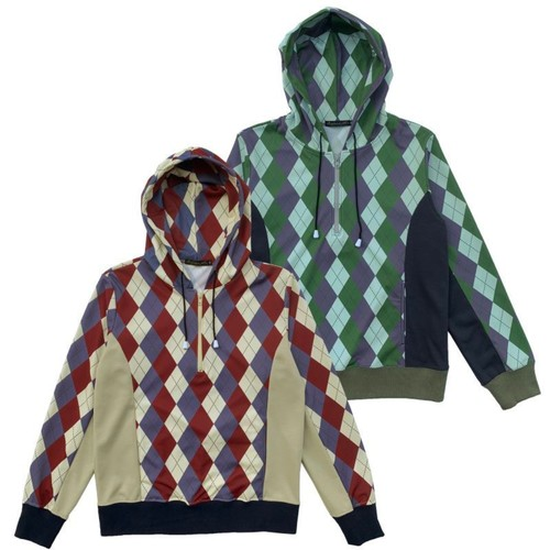 Original John | ARGYLE HALF ZIP HOODIES [CT401]