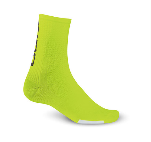 GIRO HRC TEAM SOCKS /  Highlight Yellow / Black