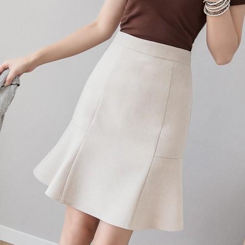 2色/トランペットスカート ・17317