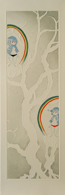 コピー:ミヤケマイ「春夏秋冬」冬の虹
