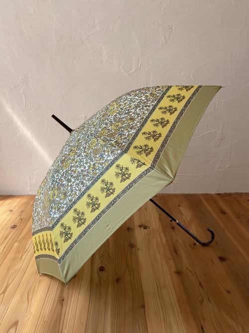 インド更紗パターン傘(雨晴兼用)イエロー