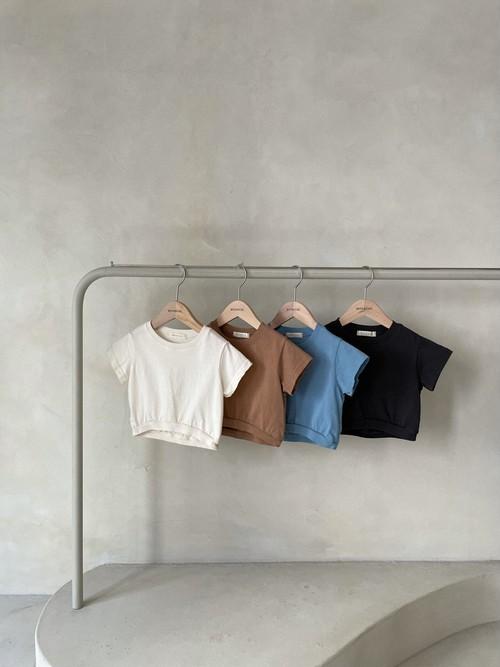 『翌朝発送』crop T-shirt〈monbebe〉