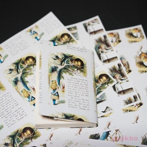 紙製ブックカバー 「不思議の国のアリス」(彩色版)
