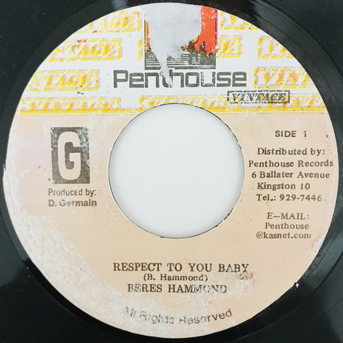 Beres Hammond - Respect To You Baby【7-11001】
