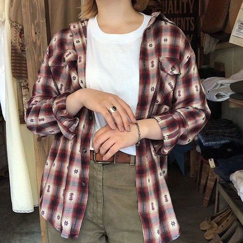 native shadow check shirt