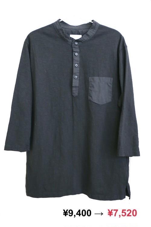 【UNISEX】Black Pocket Long Tee