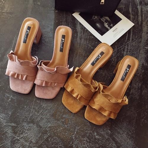 【即納♡】frill summer sandals 6595