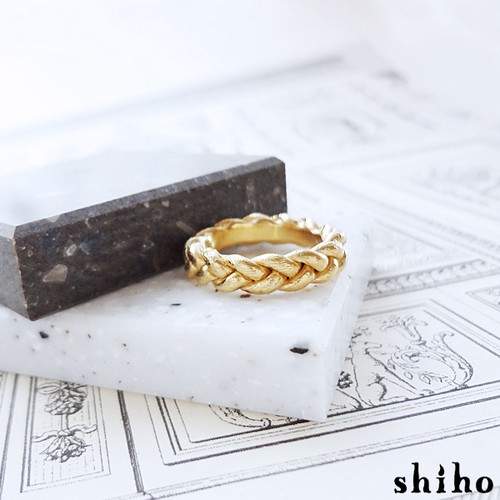 みつあみのリング【mitsuami ring(M)】