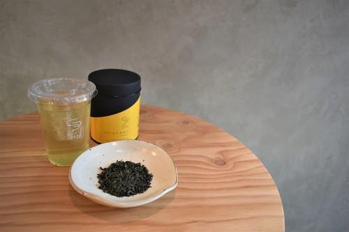 ふじかおり - 釜炒り茶 - (Canister big TYPE)