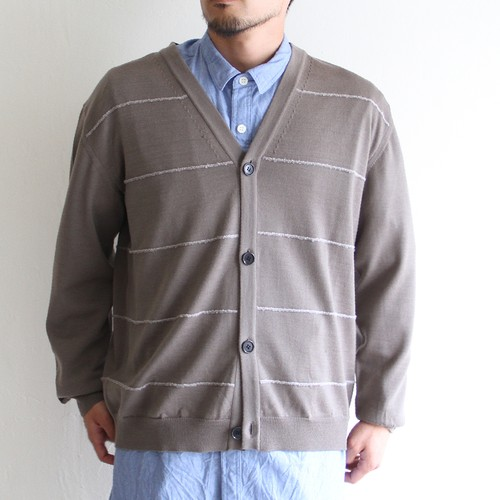 STILL BY HAND【 mens 】14g v neck cardigan