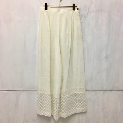 switching cotton wide pants