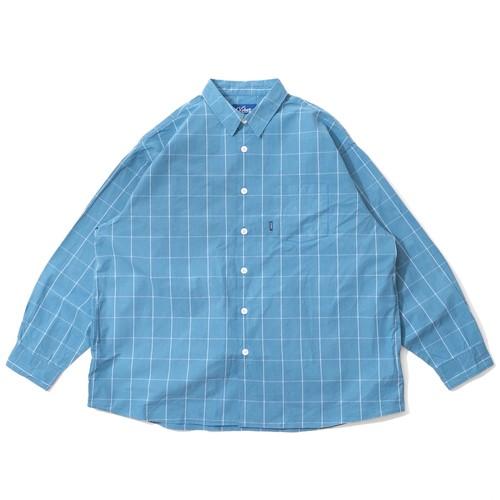 WINDOWPANE CHECK SHIRTS【SAXE BLUE】