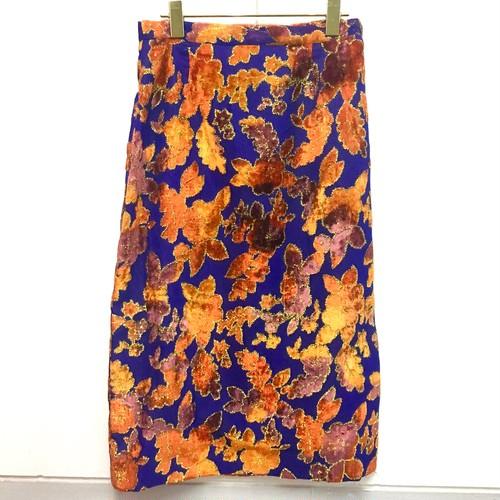 vivid flock plint skirt