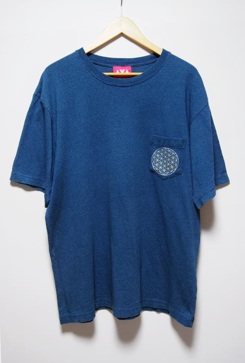 インディゴポケットTシャツ