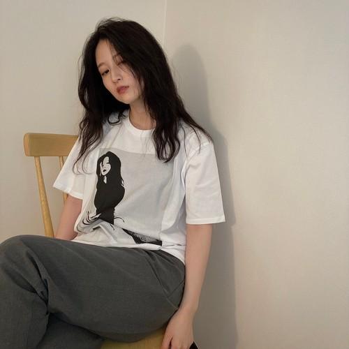 Tシャツ/ホワイト 八田エミリオリジナルデザイン