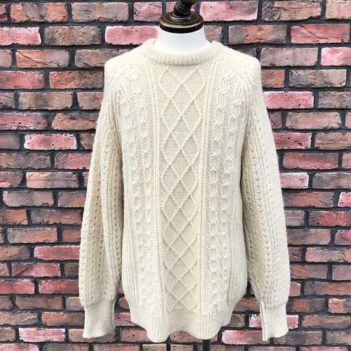 Vintage Antartex Cable Sweater Made In Great Britain