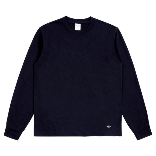 Recycled Cotton Long Sleeve Tee(Navy)