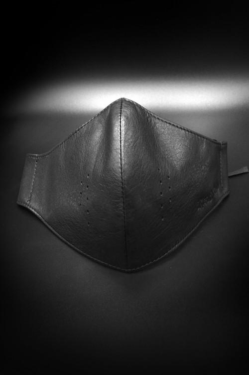 Item No.0374:RH Smooth Back Leather Surgical Mask/BLACK