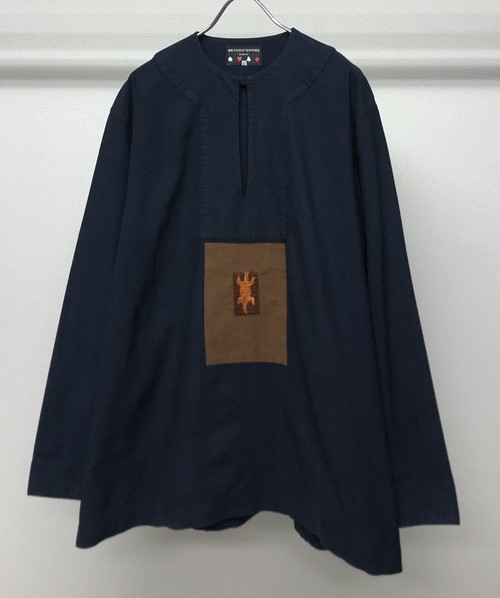 1980s JOE CASELY HAYFORD EMBROIDERED SMOCK
