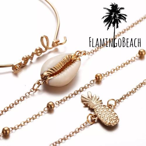 【FlamingoBeach】summer ブレスレット セット