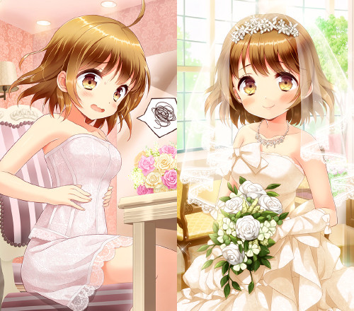 【ストア限定商品】~花嫁シリーズ~「南智花」カード型アクリルキーホルダー(2個セット)