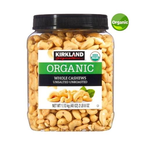 コストコ カークランドシグネチャー  有機 無塩 カシューナッツ 1.13kg   Costco Kirkland Signature Organic Unsalted Whole Cashews 1.13kg