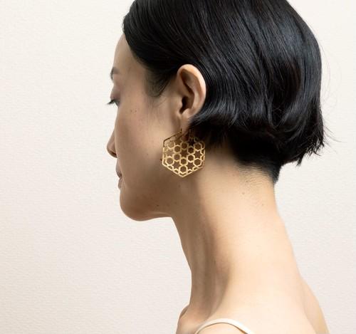 Indian's window Pierced Earrings