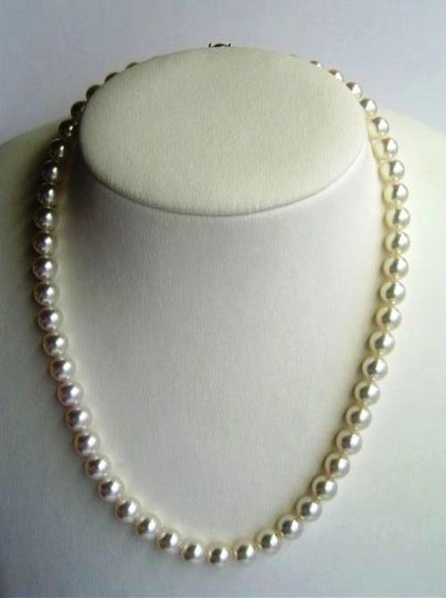 大分県産本真珠ネックレス ラウンド大粒 8-8.5mm