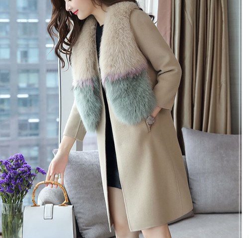 fur jacket & wool long vest (o_7)