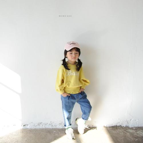キッズ~ジュニア【MOMOANN】ミルキースパンデニムパンツ S~JL