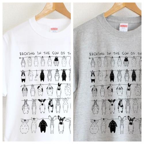 marutaka うさぎのひなたぼっこ Tシャツ ユニセックス