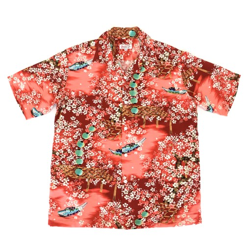 Mountain Men's アロハシャツ 桜  Red