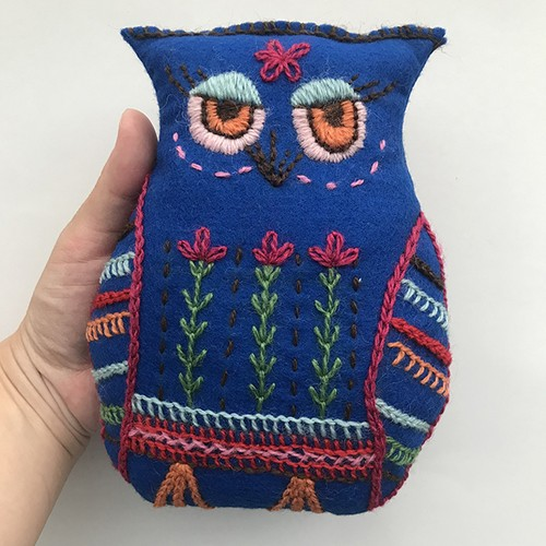 <Finland>  Embroidery Stuffed Animal / HUUHKAJA(ミミズク)