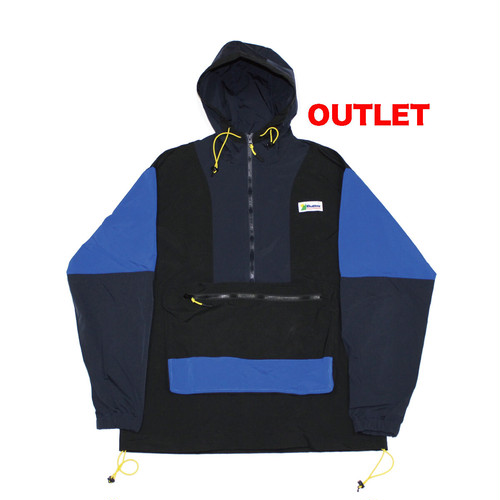【アウトレット】BUTTER GOODS EQUIPMENT PULLOVER JAKET BLACK/NAVY/ROYAL サイズM