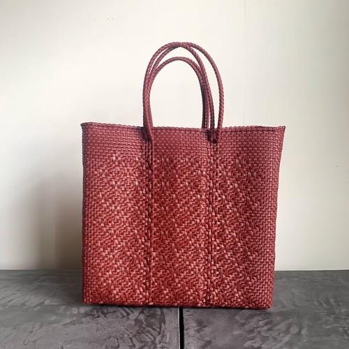 MERCADO BAG|ROMBO(Dark red) M