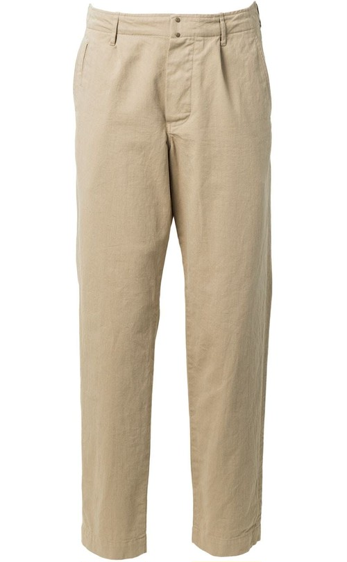 【HAND ROOM / ハンドルーム】8061-1404  One Pleat Backstrap Pants  #23 BEIGE