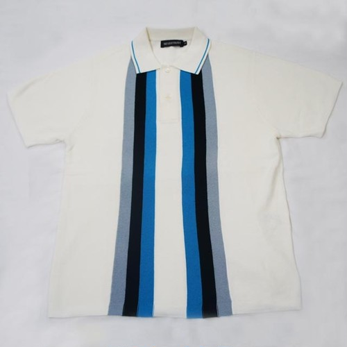 MARTI STRIPE KNIT POLO-SHIRT  OFF WHITE
