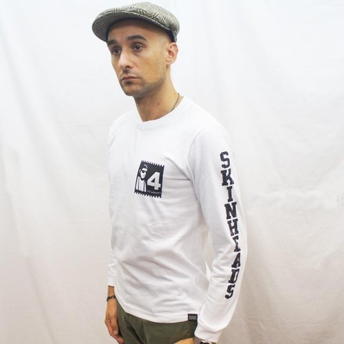 4 SKINHEADS LONG SLEEVE  Tシャツ WHITE