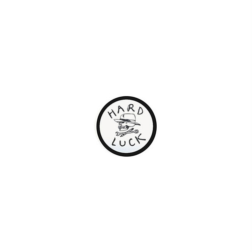 HARD LUCK - OG STICKER (White/Black) 31mm