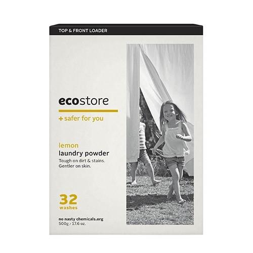【ecostore】ランドリーパウダー <レモン> ドラム式 500g
